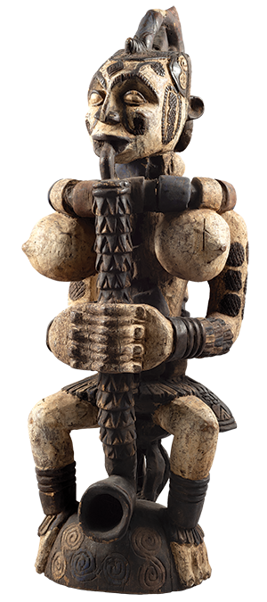 Northern Igbo, Federal Republic of Nigeria. Seated Figure, early 20th century. Wood, 291/2 x 103/4 x 11 in. Museum purchase with funds from the Collection Endowment, 2021.8