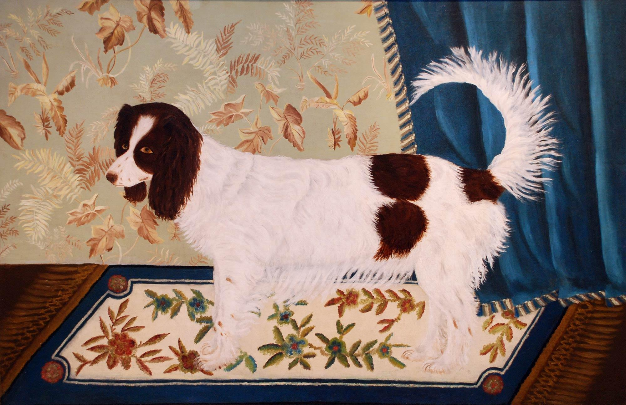 American, 19th century. Spaniel, ca. 1840. Oil on canvas, 29 x 45 in. Gift of Edgar William and Bernice Chrysler Garbisch, 1973.87
