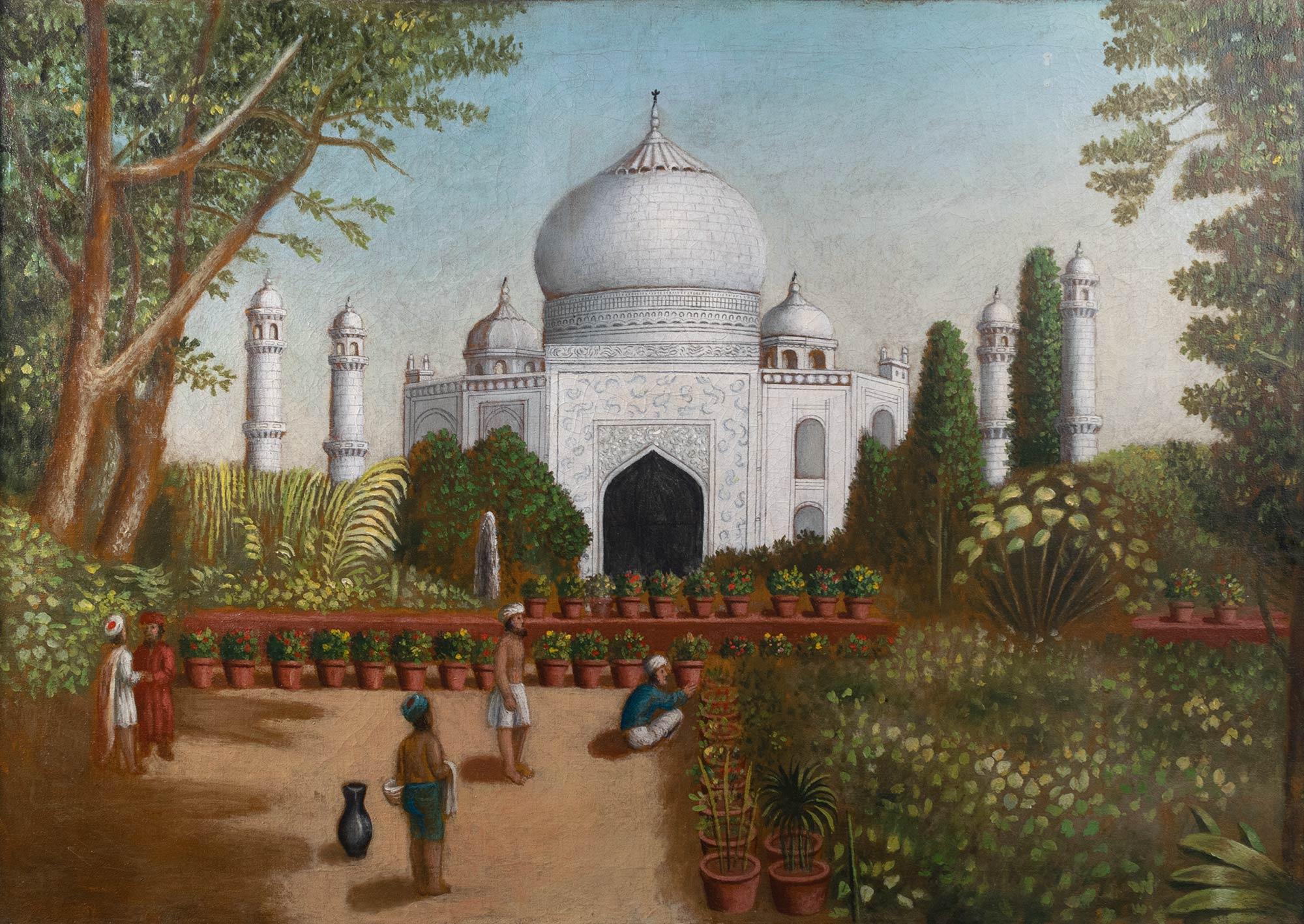 Erastus Salisbury Field, American, 1805–1900. The Taj Mahal, ca. 1850. Oil on canvas, 24 ¼ x 34 1/8 in. Gift of Edgar William and Bernice Chrysler Garbisch, 1968.202
