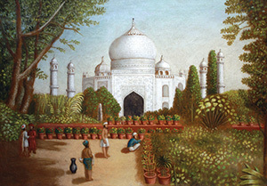 Erastus Salisbury Field, American, 1805–1900. The Taj Mahal, ca. 1850. Oil on canvas. 24 1/4 x 34 1/8 inches. Gift of Edgar William and Bernice Chrysler Garbisch, 1968.20