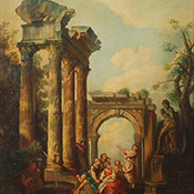 Anonymous, Figural Landscape with Ruins