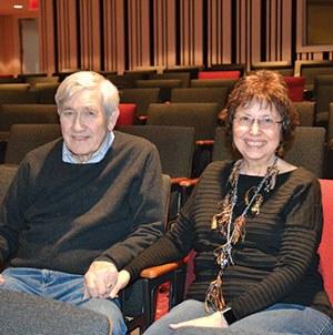 Ed White and Brenda Fortunate in the FIA Theater.