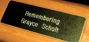 Grayce Sholt Plaque