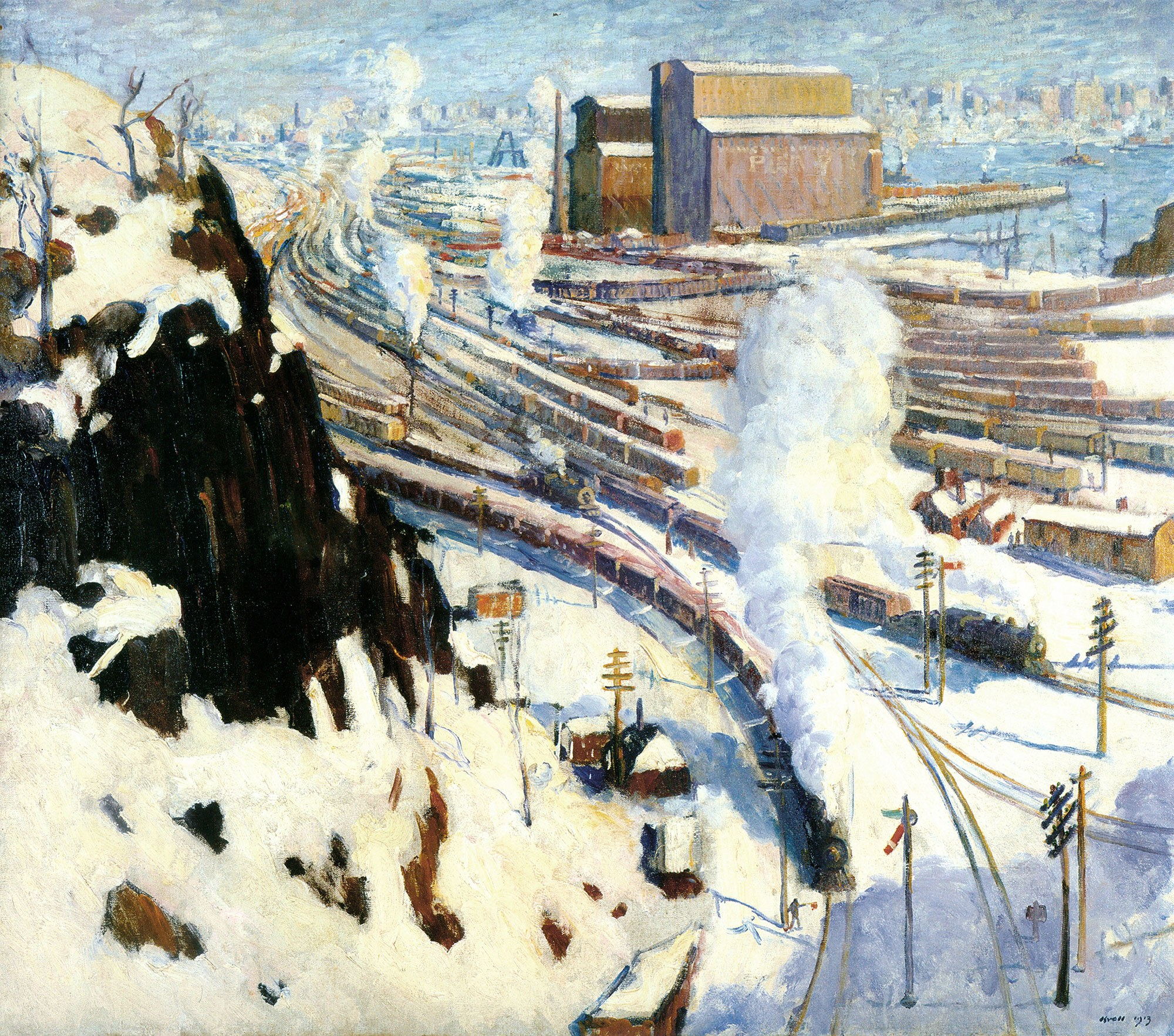 Leon Kroll, American, 1884–1974. Terminal Yards, 1913. Oil on canvas, 46 × 52 1/8 in. Gift of Mrs. Arthur Jerome Eddy, 1931.4