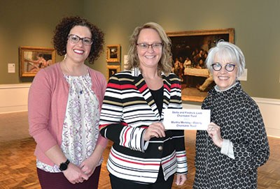 (left to right) Janice Sova and Anne Carey from Wealth and Investment Management of Huntington National Bank, and Kathryn Sharbaugh, FIA Director of Donor Relations