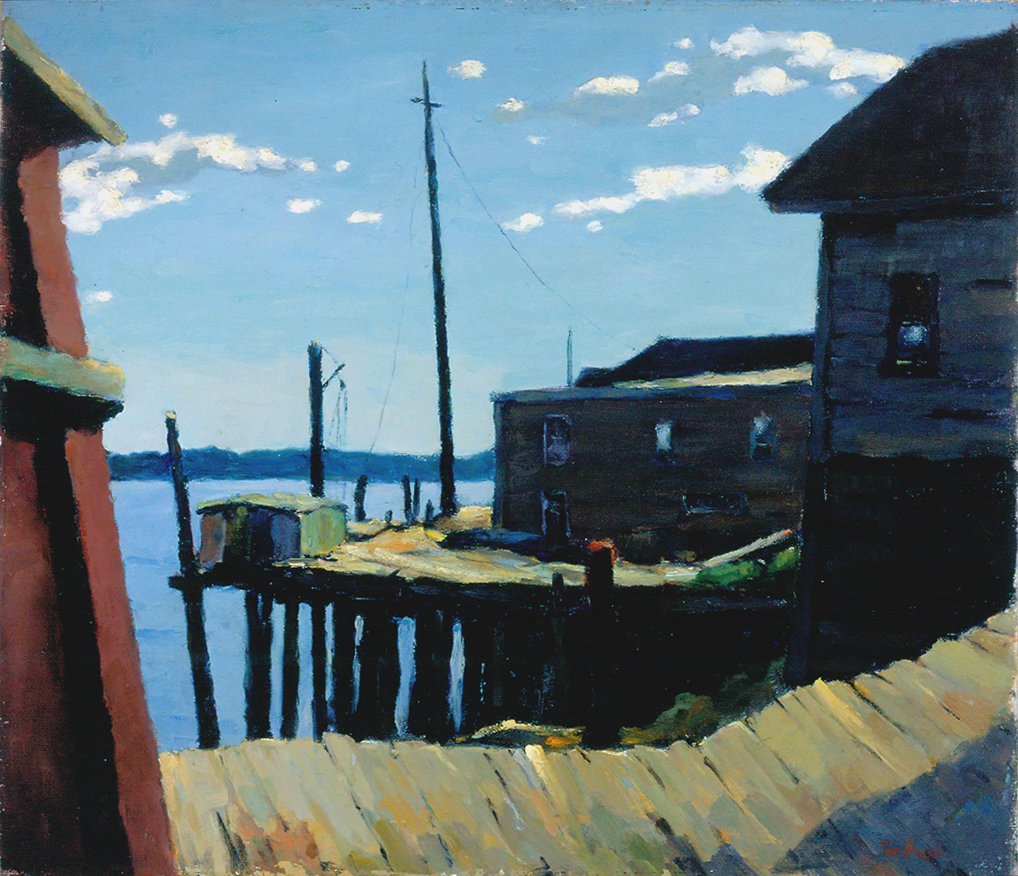 Tunis Ponsen, American, b. Holland, 1891–1968. The Old Pier, n.d. Oil on canvas, 26 ¼ x 30 ¼ in. Museum purchase by popular subscription, 1929.1