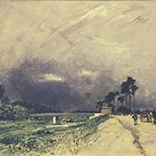 Johan Barthold Jongkind, Route le Long d'une Riviére