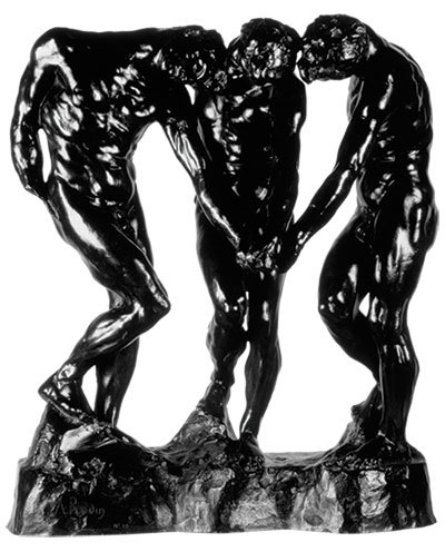 Auguste Rodin, French, 1840–1917. The Three Shades, MR cast 10 in 1981. Bronze. 41 x 38 x 21 inches. On loan from Iris Cantor, L2018.2