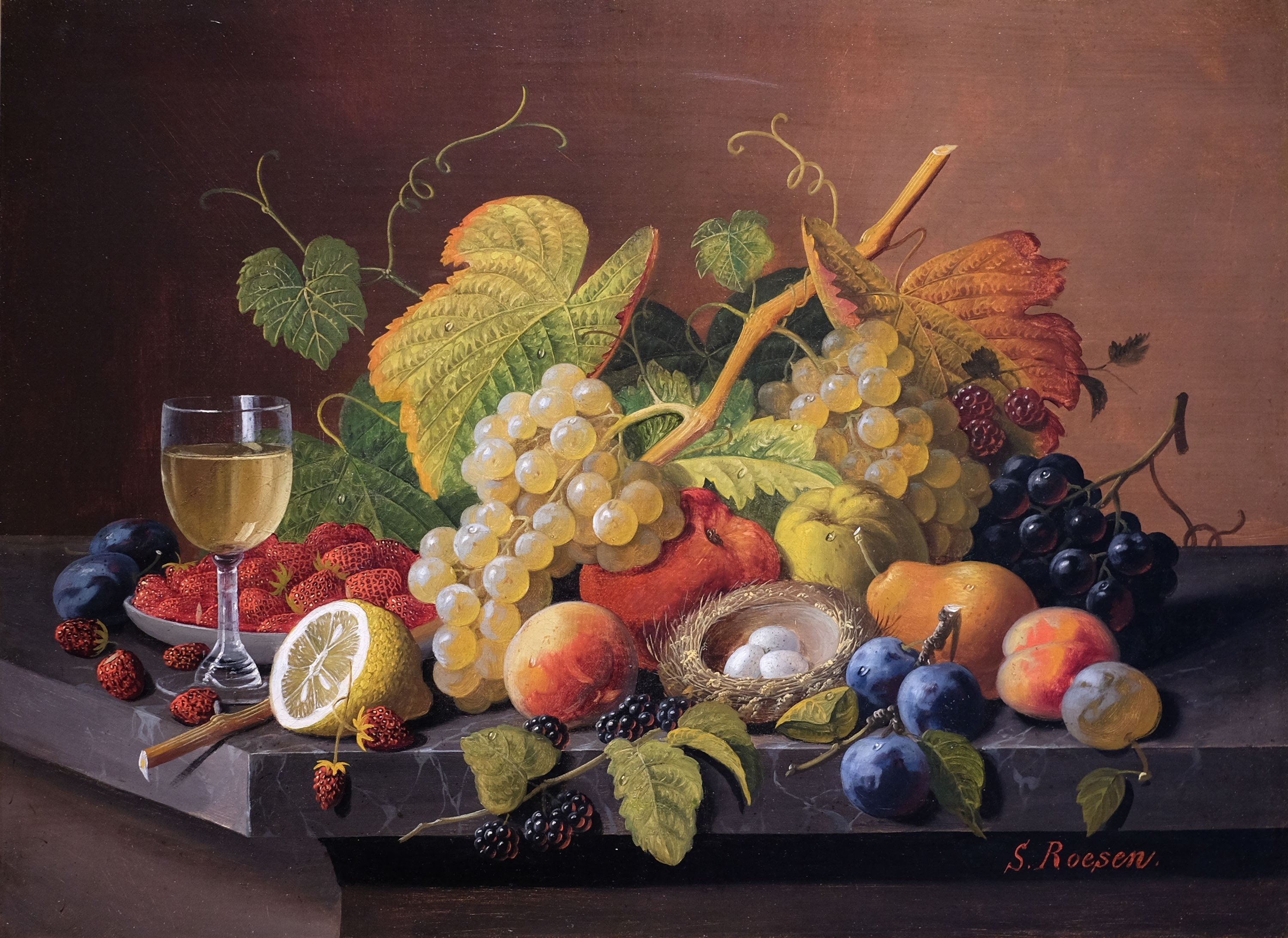 August 2021 | Severin Roesen, Still Life with Fruit