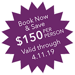 Dave $150 per person – valid through 4.11.19