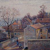 Lucien Pissarro, La Rue Saint-Vincent, Soleil d'Hiver