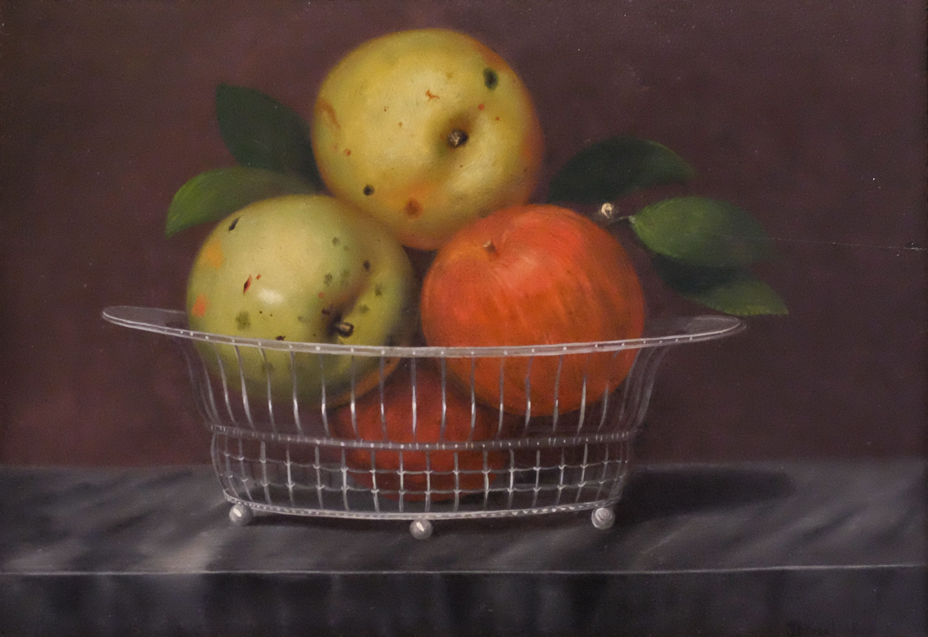Robert Street, American, 1796–1865. The Basket of Apples, 1818. Oil on board, 10 x 14 in. Gift of Viola E. Bray Charitable Trust Fund Via Mr. and Mrs. William L. Richards, 1964.4 April 30