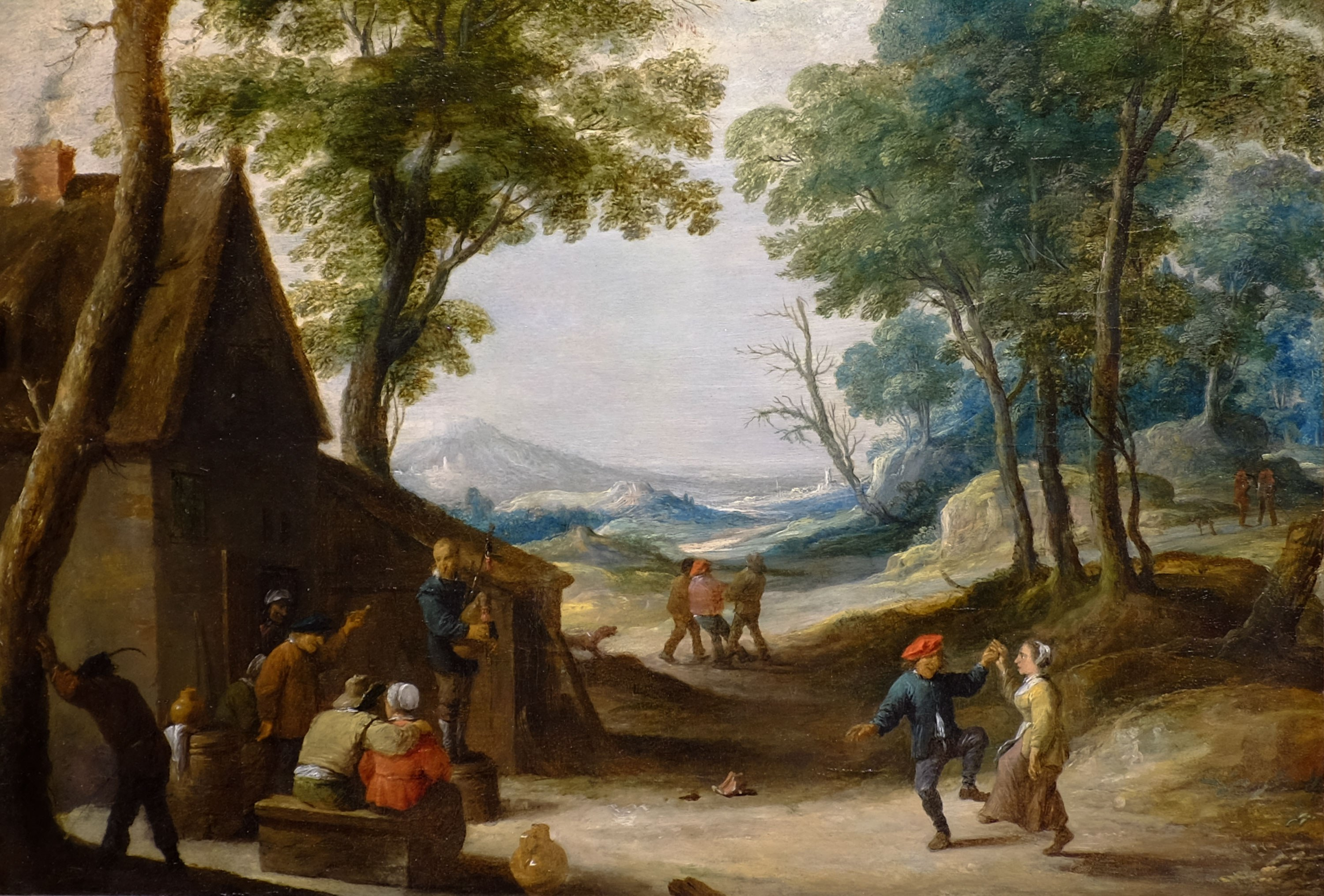 David Teniers the Younger, Flemish, 1610–1690. Peasants Dancing, n.d. Oil on panel, 13 1/2 × 19 1/4 in. Gift of Mrs. Jay C. Thompson and Mr. J. Curtis Willson from the Estate of Mrs. George Crapo Willson, 1969.29