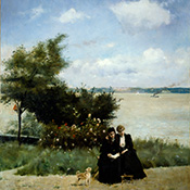 Alfred Stevens, Terrace at Honfleur