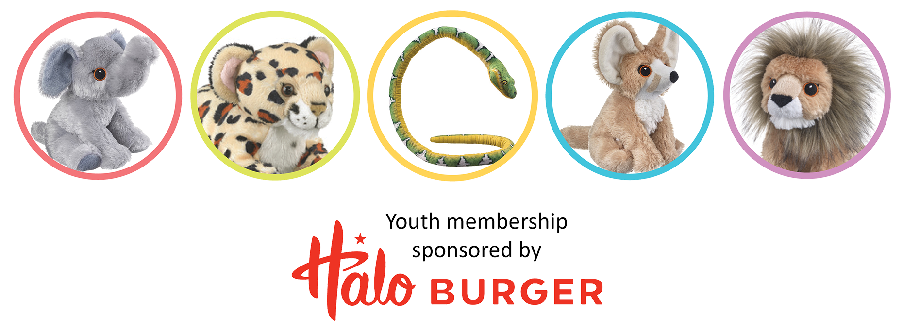 FIA Youth Membership stuffed animals | Sponsored by Halo Burger