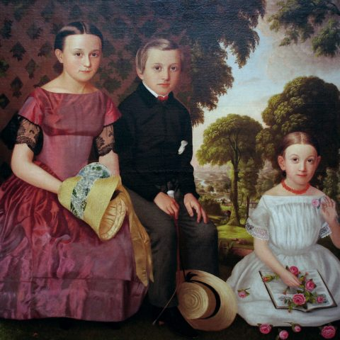 American The Fowler Children, 1854 Oil on canvas 1976.1 Audio Guide