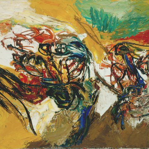 Karel Appel Heads in Yellow Space, 1960 Oil on canvas 1990.15