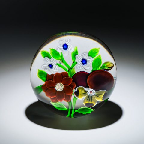 Baccarat French, founded 1764 Pansy and Clematis Bouquet, ca. 1850 Glass  3 in. Gift of Mr. and Mrs. William L. Richards 1969.75.80