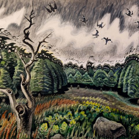 Charles E. Burchfield Nighthawks at Twilight, 1917-49 Watercolor on paper 1964.3