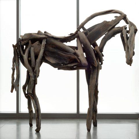 Deborah Butterfield Tarkio, 2011  Bronze  96 × 101 × 50 in.  2011.131