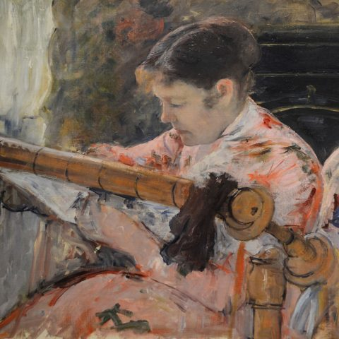 Mary Cassatt Lydia at a Tapestry Frame, ca. 1881 Oil on canvas 1967.32 Audio Guide