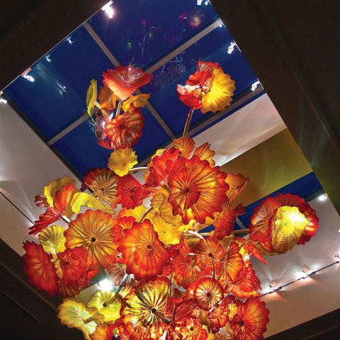 Dale Chihuly  Flint Institute of Arts Persian Chandelier, 2009  Blown glass  2009.51