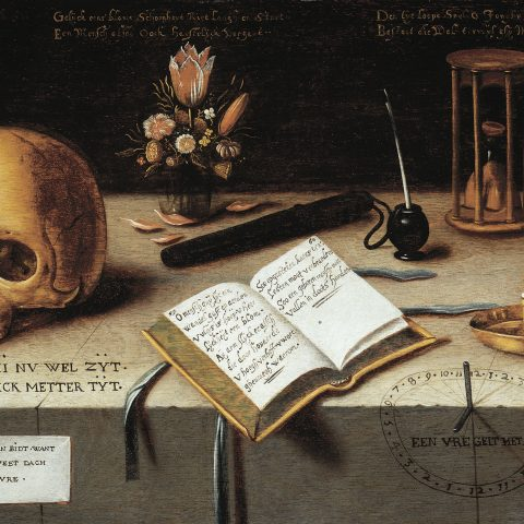 Flemish A Vanitas Still Life, ca. 1620 Oil on panel 17 × 26 in.  Museum purchase 2008.42