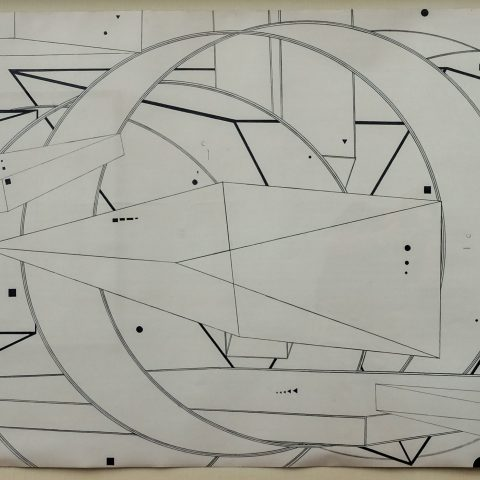 Al Held Drawing Number One (The Philadelphia Project), 1975–76  Pencil on paper 2003.13