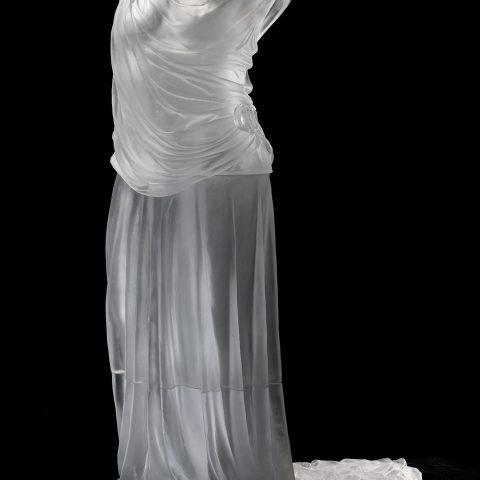 Karen LaMonte Dress Impression with Train, 2005 Cast glass L2017.143