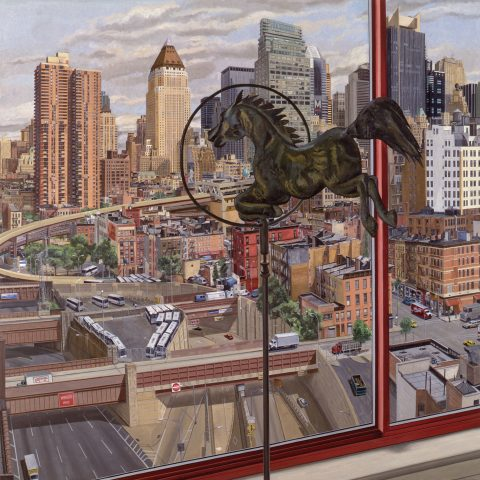 Philip Pearlstein  Entrance to Lincoln Tunnel, Daytime, 1992 Oil on canvas 1993.40