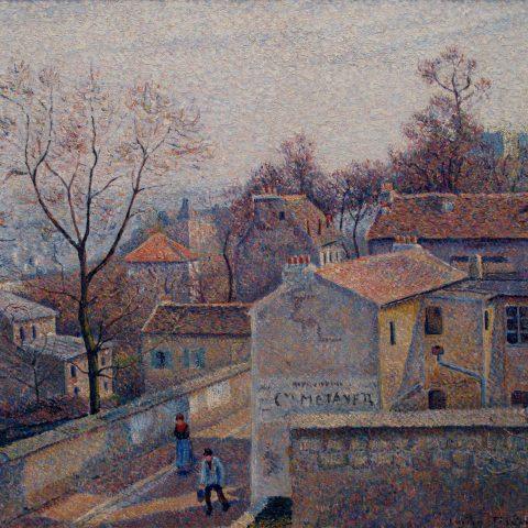 Lucien Pissarro St. Vincent Street, Winter Sun, 1890 Oil on canvas 1979.201 Audio Guide