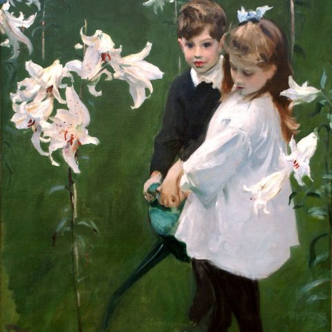 John Singer Sargent Garden Study of the Vickers Children, 1884 Oil on canvas 1972.47 Audio Guide